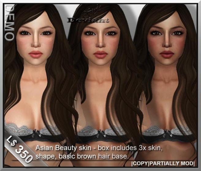 Asian beauty skin ad