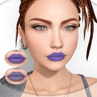 Lipstick duo purple pack